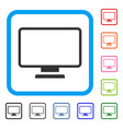 monitor framed icon vector image vector image