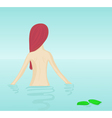 naked girl bathing vector image