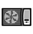outdoor air conditioner fan icon simple style vector image vector image
