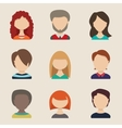 people icons avatars flat style vector image vector image