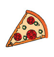 pizza fast food icon image vector image vector image