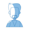 portrait man cartoon business employee character vector image vector image