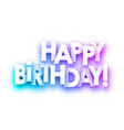 purple spectrum happy birthday paper card vector image vector image
