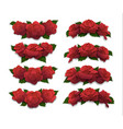 red rose half-oval crowns and diadems vector image vector image