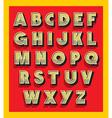 Retro vintage font type alphabet vector image vector image