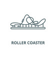roller coaster line icon linear concept vector image