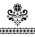 scandinavian christmas folk art design set vector image