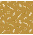 Seamless pattern with bread rolls cookies and vector image