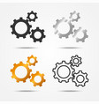 set black gray silver and gold 3 gears icon vector image