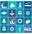 Set of Cargo and Marine Icons vector image vector image