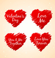 set of love hearts vector image vector image