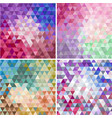 set of triangular colorful mosaic faceted vector image