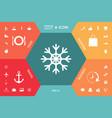 snowflake icon symbol vector image