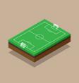 soccer field isometric flat design vector image vector image