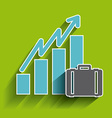 statistics icons design vector image vector image
