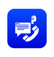 telephone calls icon blue vector image vector image