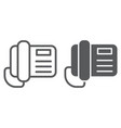 telephone line and glyph icon call and vector image vector image