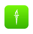 torch icon simple black style vector image vector image
