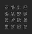 user experience chalk white icons set on black vector image