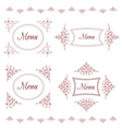 Vintage background for menu with tracery elements vector image vector image