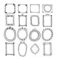 vintage hand drawn frames doodle set design vector image vector image