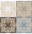 Vintage lace pattern set