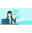 Woman making purchases online vector image vector image