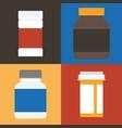 set of medicine vector image
