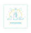 card of the christian holiday vector image