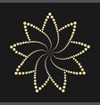 abstract dotted flower shape design element vector image