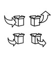 line package box icons on white background vector image