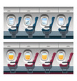airplane window view cartoon vector image vector image