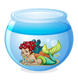 An aquarium with a mermaid vector image vector image