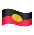australian aboriginal flag waving white background vector image vector image