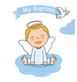 baptism invitation card vector image vector image