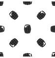 barrel of beer pattern seamless black vector image vector image