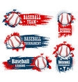 basenall sport team halftone banners and flags vector image