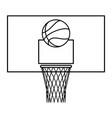 basketball game contour vector image