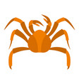 big crab icon isolated vector image