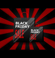 black friday sale with shopping bag vector image vector image