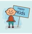 boy kids happy poster vector image vector image