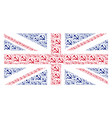 british flag collage of sickle and hammer icons vector image vector image
