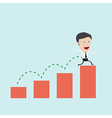 Businessman jump over graph vector image
