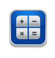 calculator icon - app button vector image
