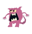 Cartoon flat monsters big icon Colorful kid toy vector image vector image