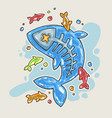cartoon jelly fish cartoon in comic vector image