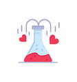 chemical flask heart love flat color icon icon