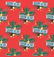 christmas seamless pattern new year hand vector image vector image
