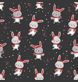 christmas seamless pattern with bunny background vector image vector image