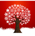 Christmas winter tree background vector image vector image